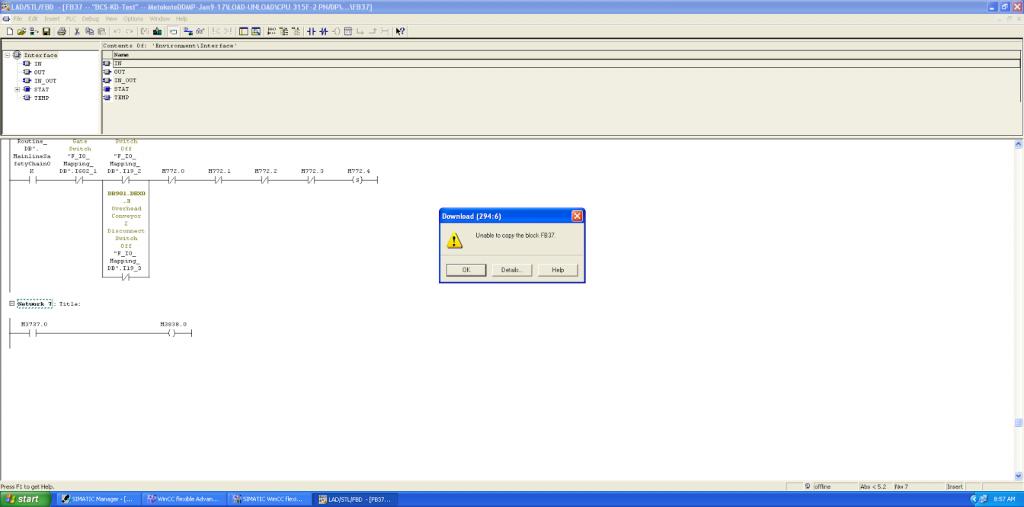 Unable to Copy Block Error Step7