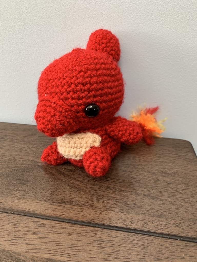 Charmander crochet doll