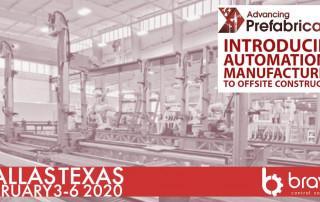 Advancing Prefabrication Dallas 2020